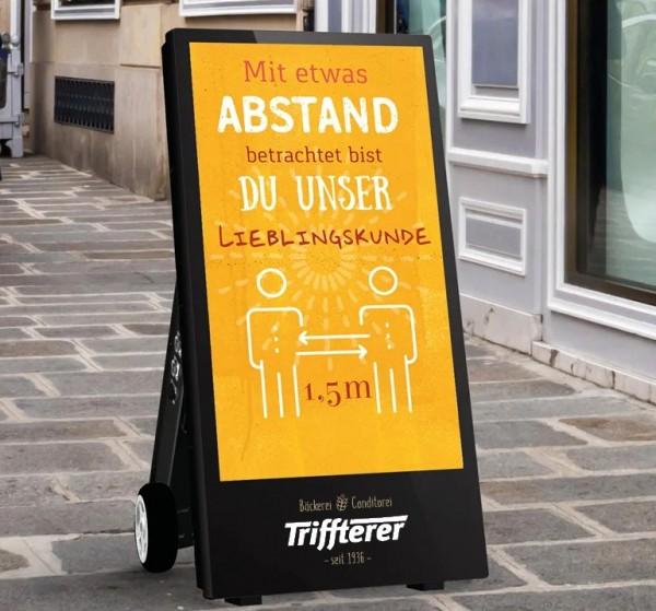"""Digitaler Kundenstopper Outdoor 43"""" (Vorführgerät)"""