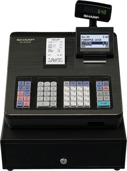 Registrierkassen Sharp XE-A207 XB - anthrazit - inkl. TSE Lizenz 3 Jahre