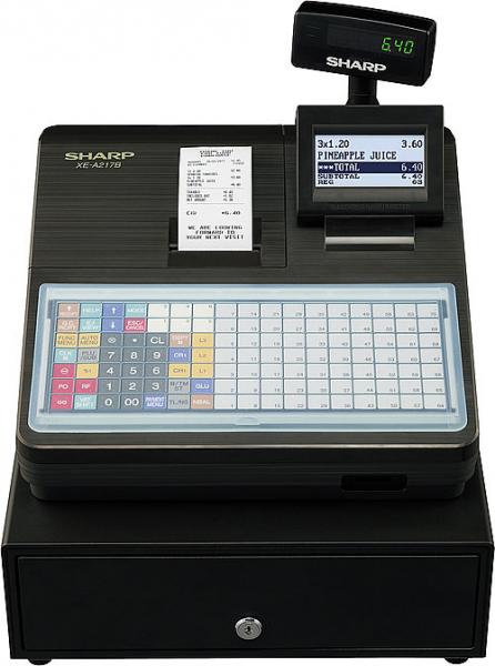 Registrierkasse Sharp XE-A217 XB - anthrazit - inkl. TSE Lizenz 3 Jahre - ohne Programmierung
