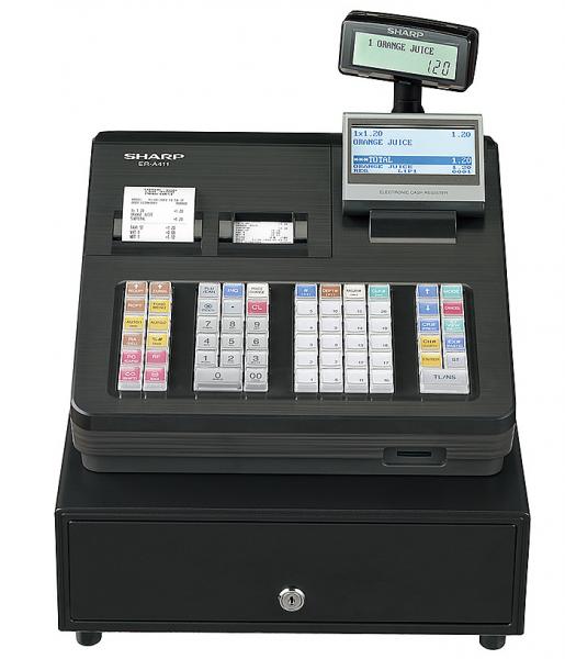 Kassensystem Sharp ER-A411 X - Einzelhandelskasse - inkl. TSE Lizenz 3 Jahre - ohne Programmierung