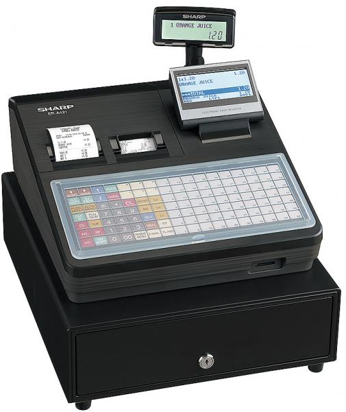 Kassensystem Sharp ER-A421 X - Gastronomiekasse - inkl. TSE Lizenz 3 Jahre - ohne Programmierung